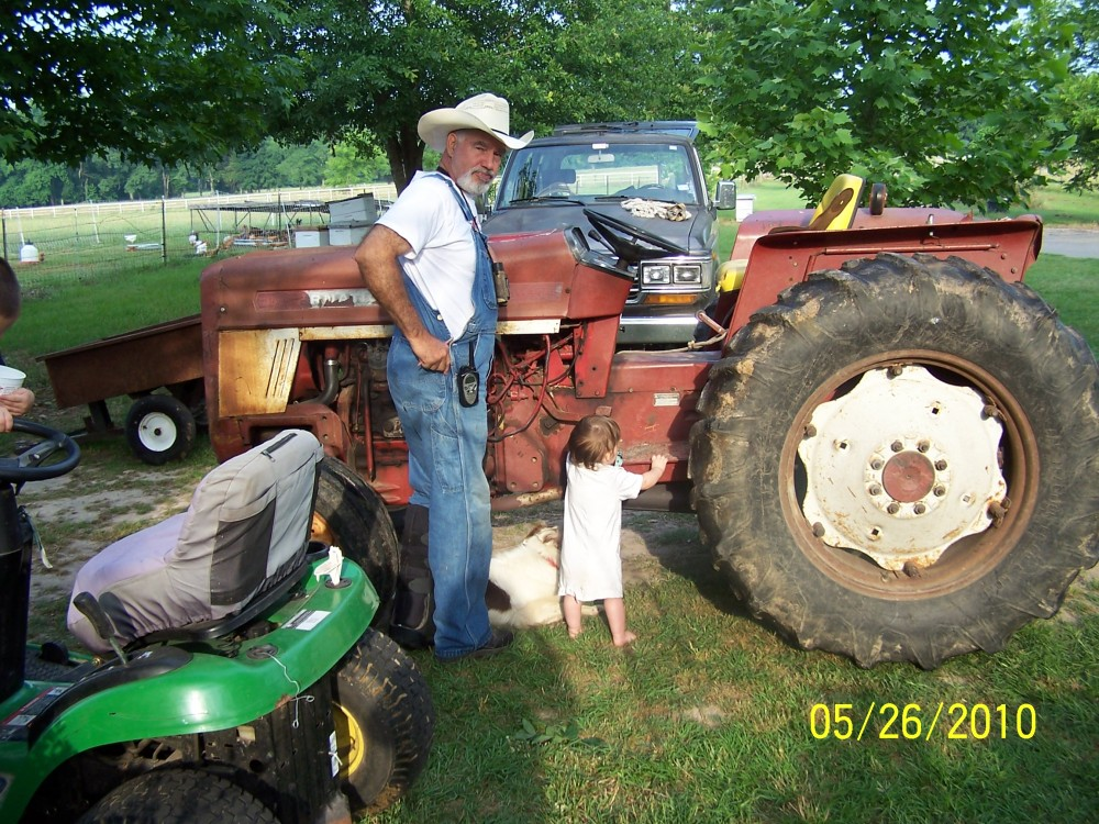 Old Tractor, Old Captain and Grandkid