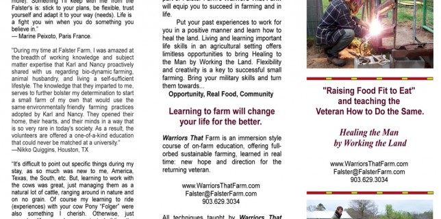 Warriors That Farm Brochure